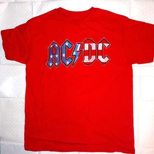 AC/DC USA Flag Logo T-Shirt M L XL Boys 8-20 NWT